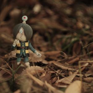 ゲゲゲの森、落ち葉の候