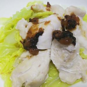 鶏と白菜のレンジ蒸し 梅ポン酢ダレがけのレシピ【あっさりヘルシー低カロリー高たんぱく】