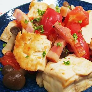 豆腐のベーコントマト煮込みのレシピ
