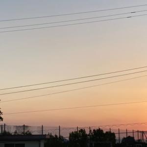 2021/09/16 今朝の日の出