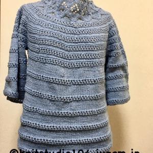 教室お休みの間にウェア5着編みました!と嬉しいご報告