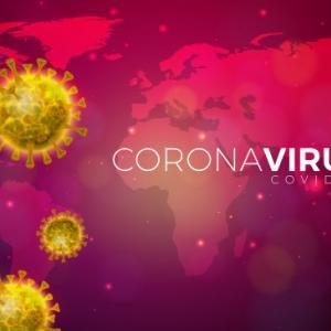 世界各国におけるコロナウイルス感染者の状況