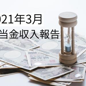 【不労所得収入】運用6ヶ月目の配当金収入は?【2021年3月】