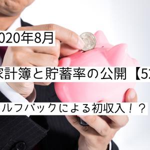 【2021年8月】家計簿について【貯蓄率:52%】