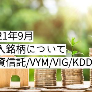 2021年9月の購入銘柄について【目指せサイドFIRE】