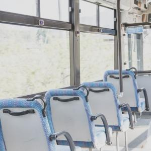 緊張していたバスへの乗車