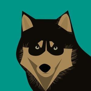 メモ書きに描いた犬のイラスト