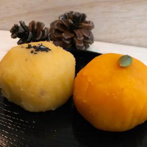 岡部製粉所のおはぎに秋の味覚が登場~南瓜とさつまいも