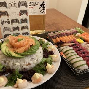リオの誕生日は寿司まみれ