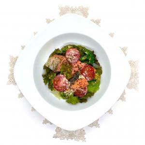 《塩鮭のバジルソースマヨネーズ》簡単電子レンジで作れる!お弁当にも美味しい魚のレシピ