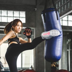 今年初のキックボクシングは青空トレーニング