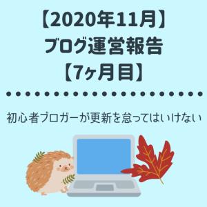 【2020年11月ブログ運営報告】初心者ブロガーが更新を怠ってはいけない