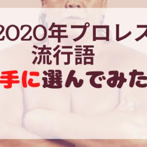 2020年プロレス界の流行語大賞を勝手に決定!