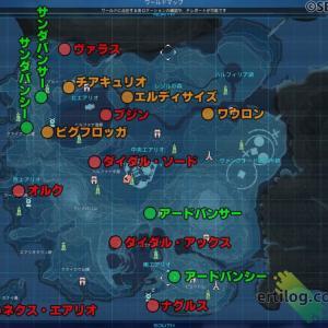 【PSO2NGS】マップで見るドレッドエネミー(老練の~)出現場所 まとめ