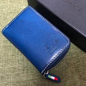 小銭とカード、キーをコンパクトに持ち歩けるオリーチェバケッタレザーキーケース。
