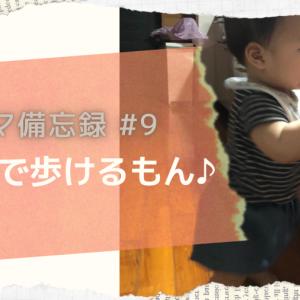 【月齢⑨息子の生態】ひとり歩き+ボール遊び【成長備忘録】