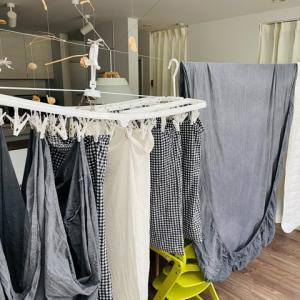 わが家の洗濯環境|洗濯は3部制。季節に応じて干す場所を変えていく