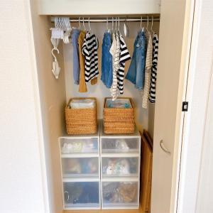 【子供服収納】3兄弟の服は全部一箇所に収納しています♪