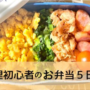【お弁当】料理初心者の5日分お弁当