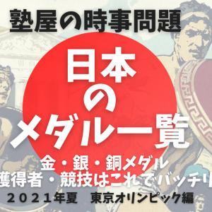 【東京五輪2021】日本人選手のメダル獲得一覧