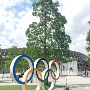 [旬スポット]新・国立競技場前の五輪モニュメント♫