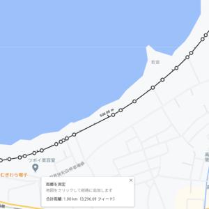 福井県高浜町で1000mのコースを計測してみた
