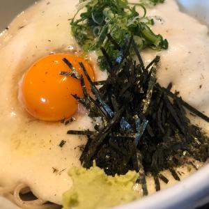 【食】大阪・西本町の「やまが」で山かけ蕎麦