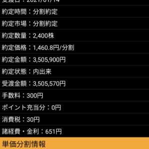 天穂のサクラナヒメのマーベラス調子がいい 含み益は860万円
