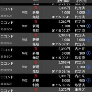 デイトレ、週トレ10円抜き 保有株の含み益は減る 21年1月15日午前中