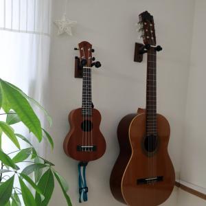 DIY:ウクレレ・ギターを石膏ボードに壁掛けするためフックをつけたよ