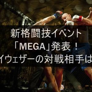 【MEGA】新格闘技イベント「MEGA2021」開催!!気になるメイウェザーの対戦相手は?