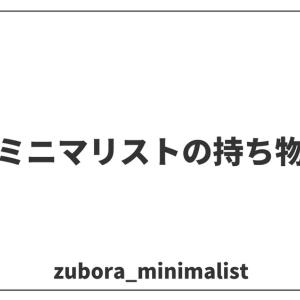 【アラサー男】ミニマリストの持ち物を紹介します!