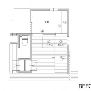 間取り相談実例①広島県C邸/新築計画 no.6「玄関の問題改善案」