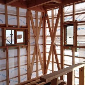 【ガルバの家づくり】外壁張りつけ前の内部構造を写真で紹介(82日目)