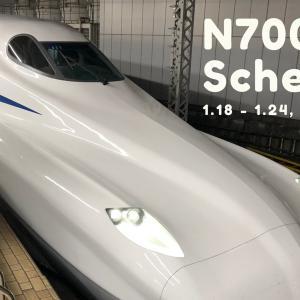 N700S運用予定(1月18日~1月24日)