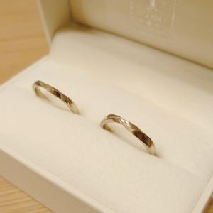 結婚指輪は手作りにしました
