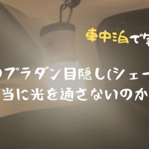 【車中泊で実験】自作のプラダン目隠し(シェード)は本当に光を通さないのか?