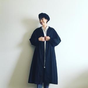 【今日のコーデ】シャツを羽織るように気楽にお洒落にmanana Zipステンカラーコートをご紹介