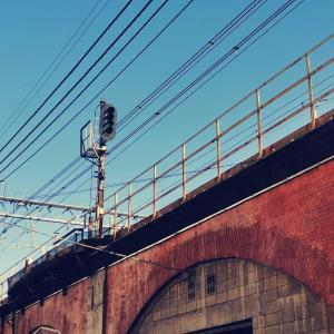 JR神田駅のレンガ造り風の高架橋