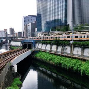 聖橋から撮影したJR御茶ノ水駅ホームと中央線