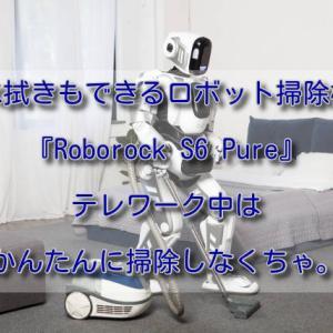 水拭きもできるロボット掃除機『Roborock S6 Pure』テレワーク中はかんたんに掃除しなくちゃ。