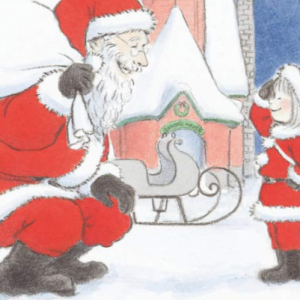 【ジュンク堂書店池袋本店】『みならいサンタ』(そのだえり/文溪堂) 絵本原画展が開催 サンタクロースになりたい!クリスマスおすすめ絵本