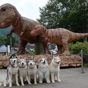 巨大な恐竜親子が動いたよ