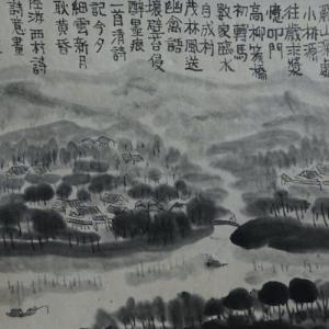 2020.12個展作品紹介ー04、陸游、西村詩意画。