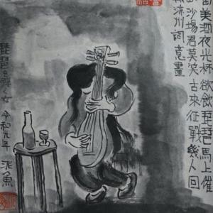 2020.12個展作品紹介ー06、王翰、涼州詞詩意画。