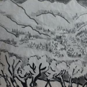 2020.12個展作品紹介ー21,白川郷、丘の上から。