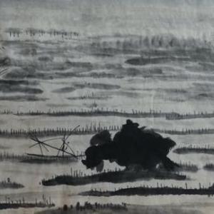 2020.12個展作品紹介ー25,杜牧、雨詩、詩意画。