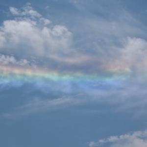 先日掲載したおめでたい彩雲を動画でも
