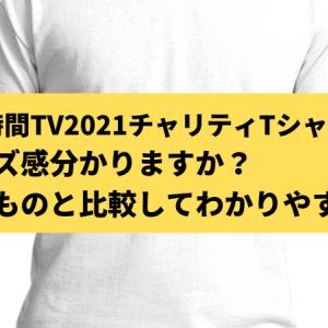 24時間テレビ2021Tシャツのサイズ感は?あるものと比べて分かりやすく!