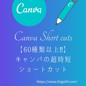Canva【キャンバ】60種類以上‼︎超時短ショートカット Mac用